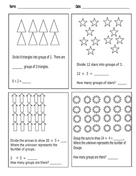 Engage NY Math Grade 3, Mod 1; Division Arrays; Find Number of Groups