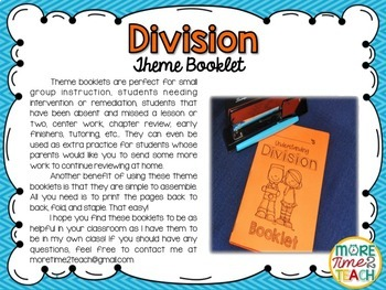 Division Theme Booklet {Mastering Division}