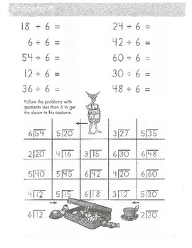 Division - Third Grade (dividing up to 10)