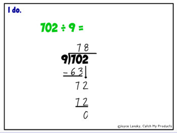 Division Three Digit by One Digit for Promethean Board