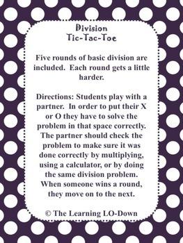 Division Tic Tac Toe