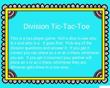 Division Tic-Tac-Toe