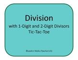 Division Tic-Tac-Toe - Division with 1-Digit and 2-Digit Divisors