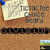 Division TicTacToe Choice Board Extension Activities