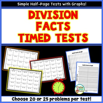 Division Timed Tests With Student Graphs & Data Progress Tracker