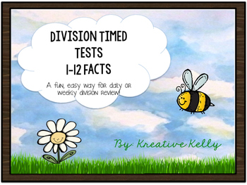 Division Fact Fluency Builder: Tests & Flash Cards (0-12 Facts)