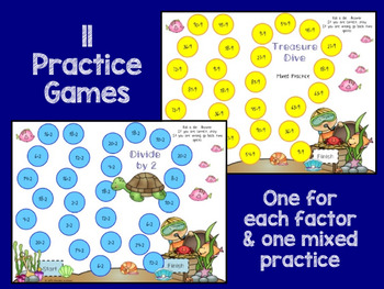 Division Timed Tests, Games, Flash Cards and More