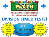Division Timed Tests and Time-Saving Answer Sheets