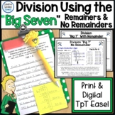 "Division Using The ""Big Seven"" (Partial Quotient)"