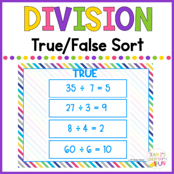 Division - True/False Sort