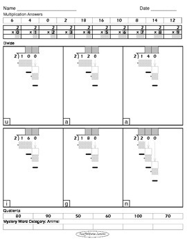 Division Worksheets (Division Tutor Set B Grayscale)
