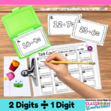 4th Grade Math: Division Task Cards  (Two Digits by One):