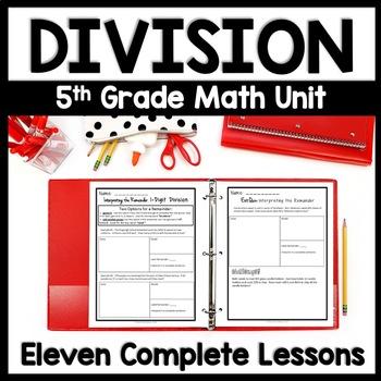 Division Unit: 4th - 5th Grade Bundle, 12 Complete Lesson Packets