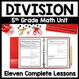 5th Grade Division Unit: 12 Complete Lesson Packets & Exit Quizzes