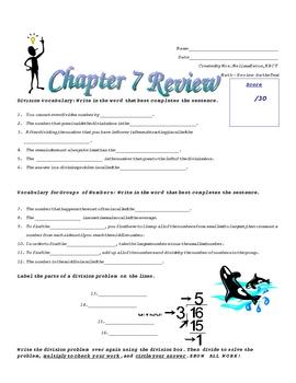 Division Unit Assessments: Quizzes, Review Sheets, Practice, Tests