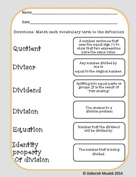 Division Unit: Teaching Strategies of Dividing