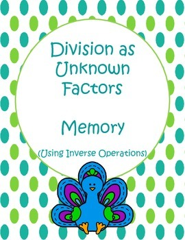 Division Unknown Factors Memory Game