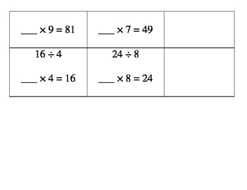 Division: Using Multiplication to find the missing number