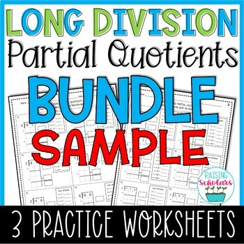 Division Partial Quotients SAMPLE | Fourth Grade