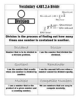 Division Vocabulary