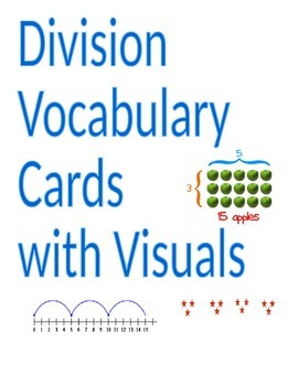 Division Vocabulary Cards