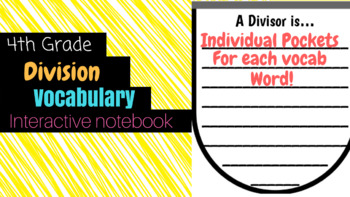 Division Vocabulary Cut and Paste