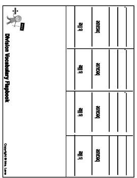 Division Vocabulary Flapbooks