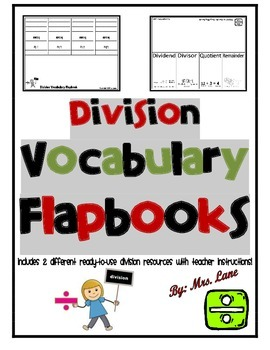 Division Vocabulary Flapbooks