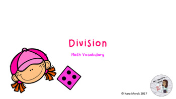 Division Vocabulary PowerPoint and Student Notes