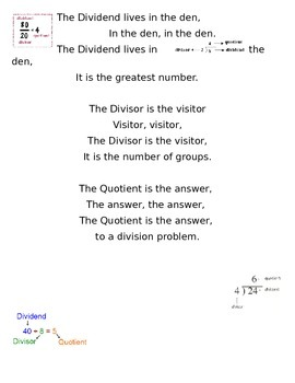 Division Vocabulary Song