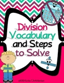 Division Vocabulary and Steps to Solve