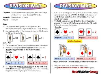 Division War - 4th Grade Math Game [CCSS 4.NBT.B.6]