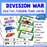 Division Games - Division War, Flash Cards and Chart