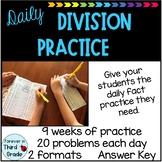 Division Fact Warm-Ups