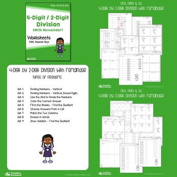 Dividing With 2 Digit Divisors Worksheets