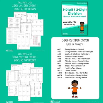 Dividing With 2 Digit Divisors Worksheets, Long Division Center Sheets