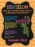 Division With Decimal Divisor: Chalkboard Style