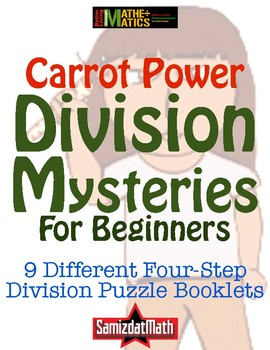 Beginners Division With Remainders Booklets: 10 Different 4-Step Problems