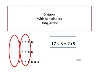 Division With Remainders Using Arrays