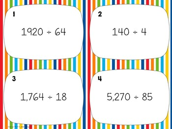 Division Without Remainders Task Cards