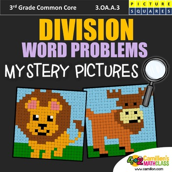 Division Word Problems, 3rd Grade Division Worksheets Mystery Pictures