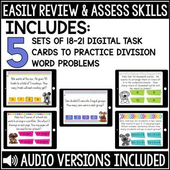 Division Word Problem Boom Cards Bundle