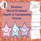 Division Word Problem Depth and Complexity Frame