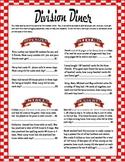 Division Word Problem Diner Menu
