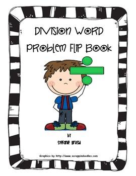 Division Word Problem Flip Book