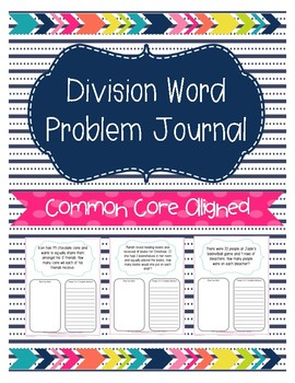 Division Word Problem Journal