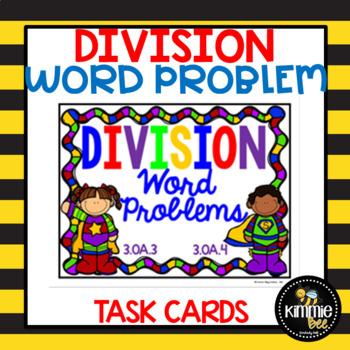 3.OA.3 3.OA.4 Division Word Problem Task Card Set