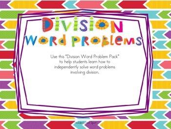 Division Word Problem Task Cards