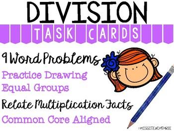 Division Word Problem || Task Cards