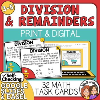 4th grade division story problems with remainders